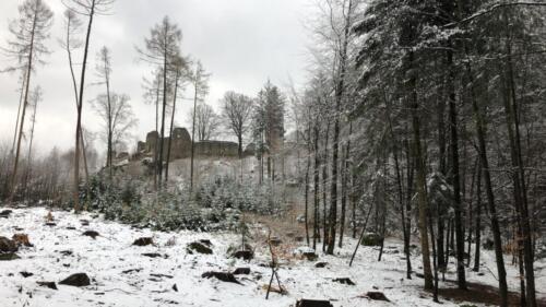 hrad Orlík v zimě